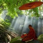 μοναχός στο ποτάμι
