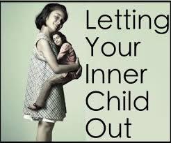 inner child holding adult